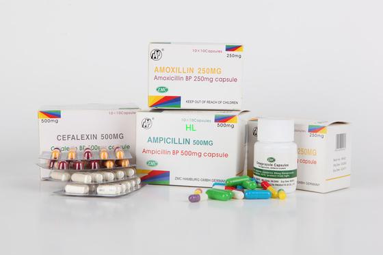 Chine L'ampicilline capsule 250MG 500MG BP/médecines pénicillines d'USP distributeur